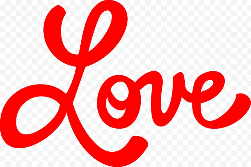 Love - Area - Text Transparent Clip Art. - Brand Free PNG