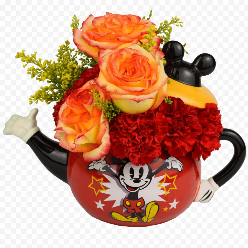 Flower Bouquet - Floral Design Mickey Mouse Minnie Flowering Tea - Floristry - Mother 's Day Carnations Free PNG