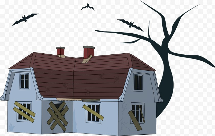 Hut - House Haunted Attraction Clip Art - Halloween - Horror Cliparts Free PNG