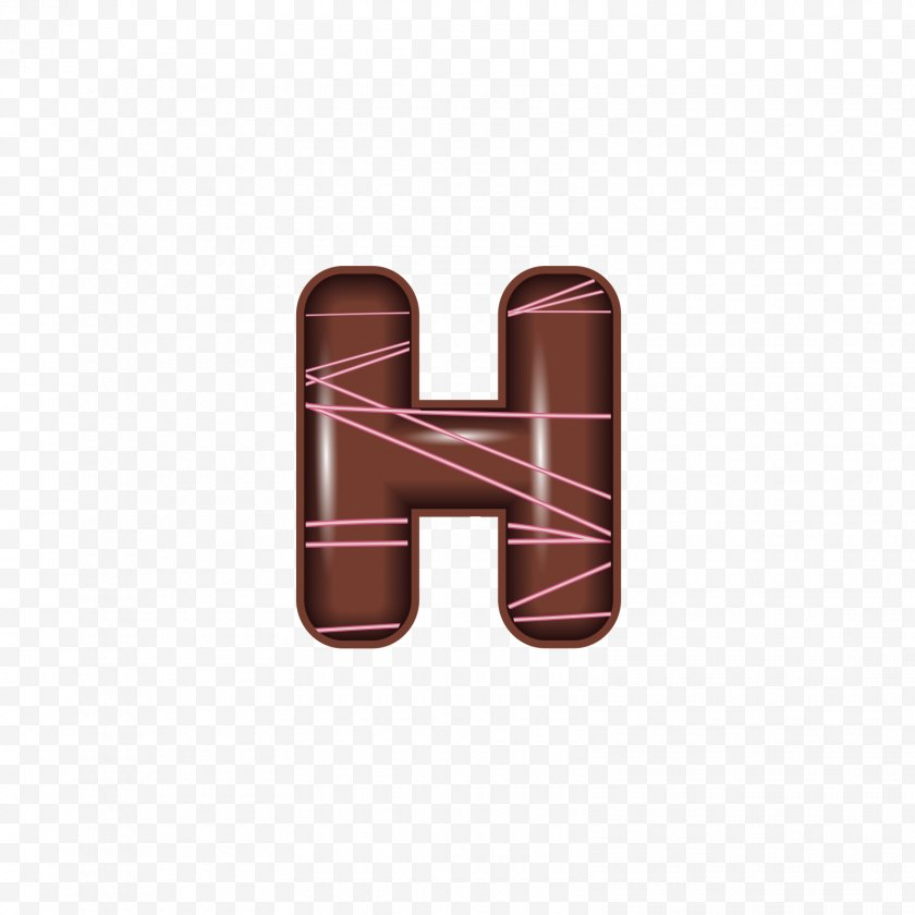 Food - Chocolate Letter - Logo - The Alphabet H Free PNG