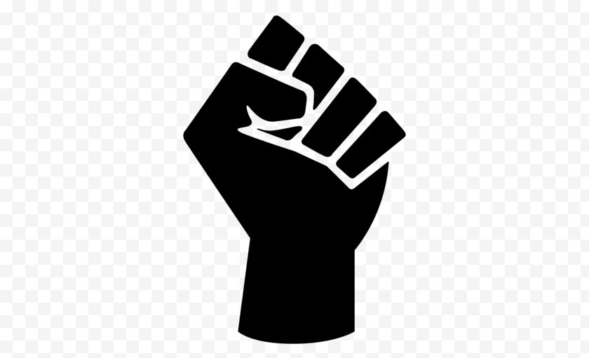 Black Panther Party - Raised Fist Power Symbol Free PNG