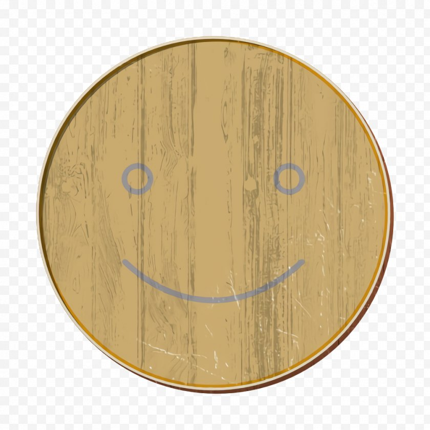 Feelings Icon - Emotions Feel Happy - Wood - Smile Stain Free PNG